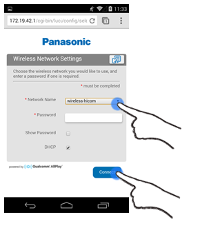 Connecting the SC-ALL3 to your WiFi Network (Android) | SC