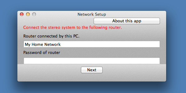 Connect your stereo system to the wireless router by using