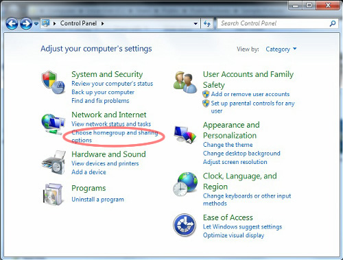 how to use media player server windows 7
