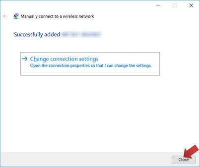 About Wi-Fi connection between the camera and Windows 10