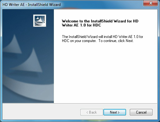 HDWriter AE1 0 for HDC Update Program for Windows 7