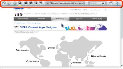 Web Browser App | TV | Digital AV | Consumer Products | Support